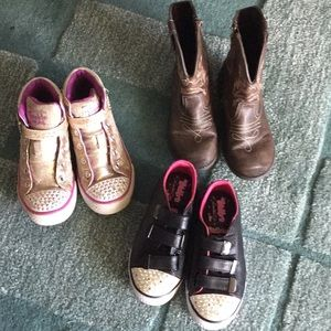 Bundle of 3 girls shoes size 11, Skechers/boots